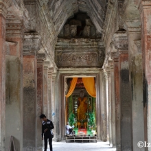 Buddhist Shrine inside the Angkor Wat