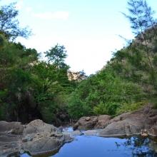 Trail to waterfalls, Nagsasa Cove