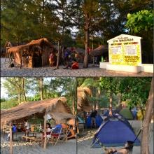 Our camping site at Nagsasa Cove