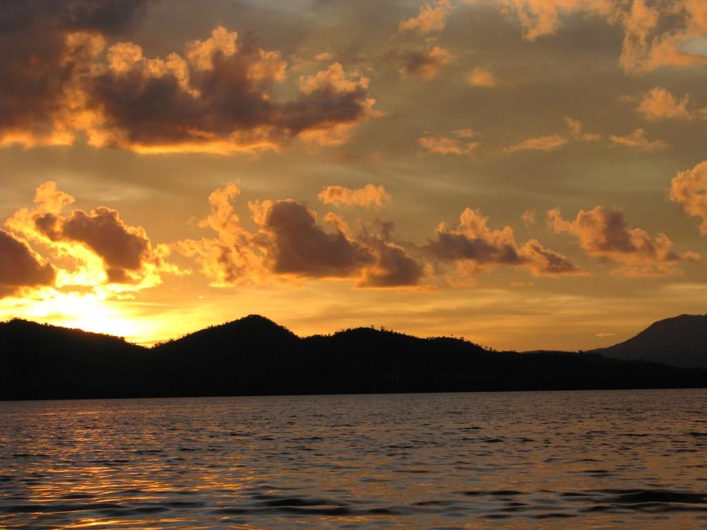 sunset at honda bay