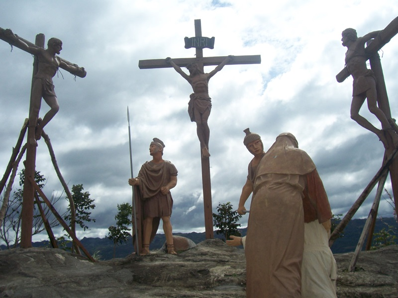 Contemplating the Passion of Christ at Kawa Kawa Hill in Ligao City, Albay